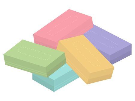 box tissues isolated vector illustration