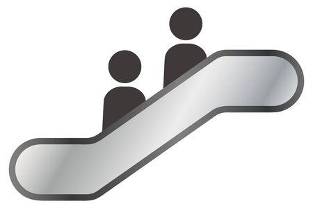 Isolated vector icon of simple escalator 일러스트