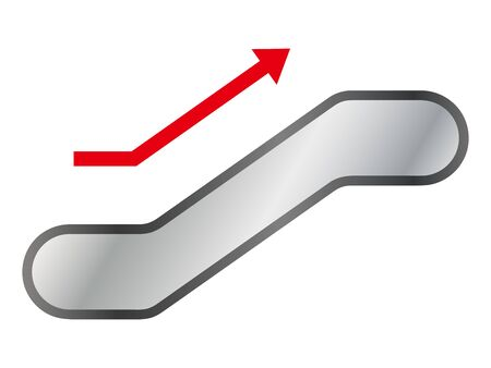 Isolated vector illustration of simple escalator