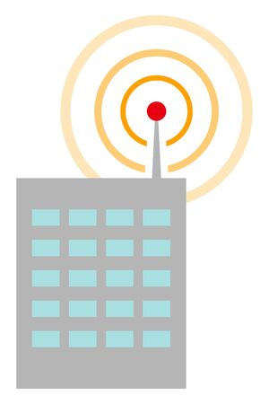 Wireless network signal from building
