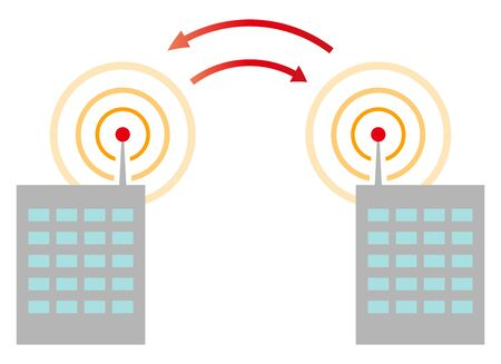 Wireless network signal from buildings