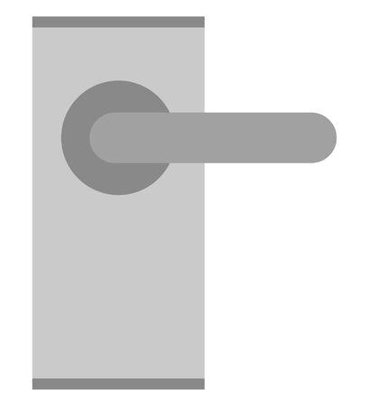 Door knob isolated vector illustration.
