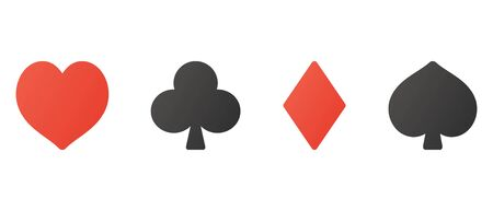 Isolated vector illustration of playing cards mark Çizim