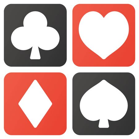 Isolated vector illustration of playing cards mark Banque d'images - 140857651