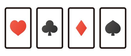 Each Suits Written on Four Playing Cards. 일러스트