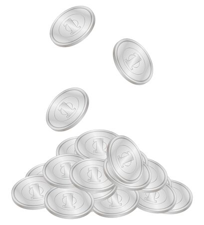 Illustration of Japanese one yen coins