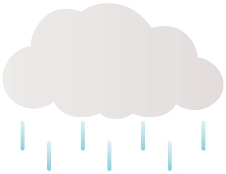 Isolated vector illustration of rainy cloud