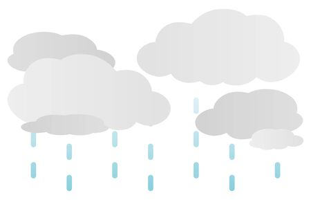 Isolated vector illustration of rainy clouds