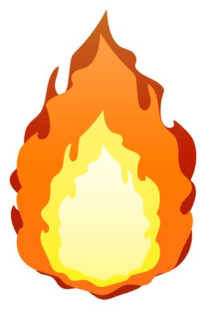 Fire Isolated Vector Illustration image. Ilustrace