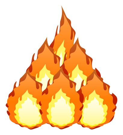 Fire Isolated Vector Illustration image. Illustration
