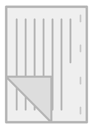 Bound documents isolated vector illustration.