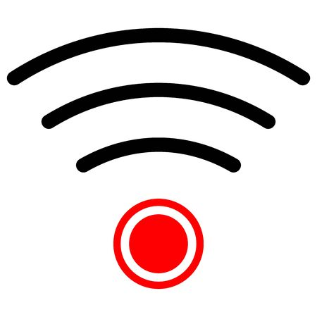 Isolated vector image of Radio wave icon.  イラスト・ベクター素材