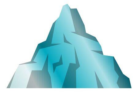 Simple vector illustration of blue iceberg.