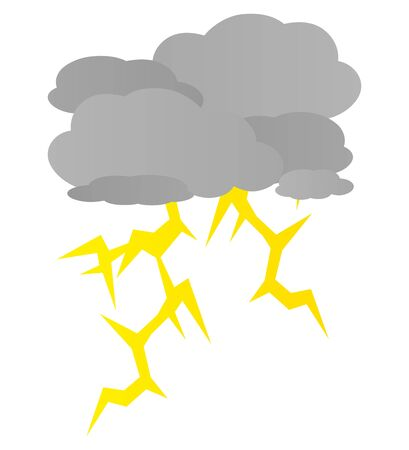 Stormy Weather Isolated vector Illustration