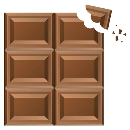 Broken chocolate isolated vector illustration Ilustrace