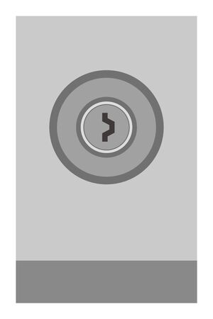 Simple vector illustration with a keyhole