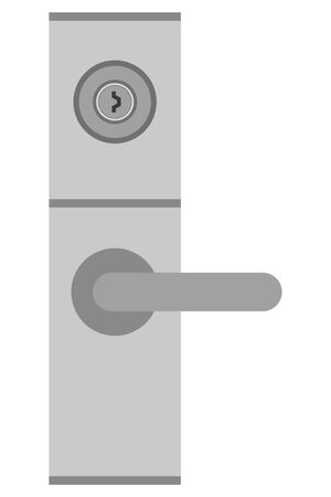 Door knob and keyhole isolated vector illustration. Vektorové ilustrace