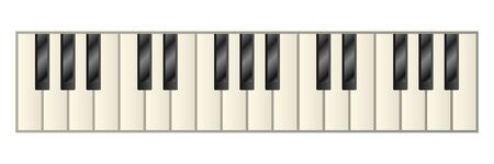 Piano keys isolated vector illustration