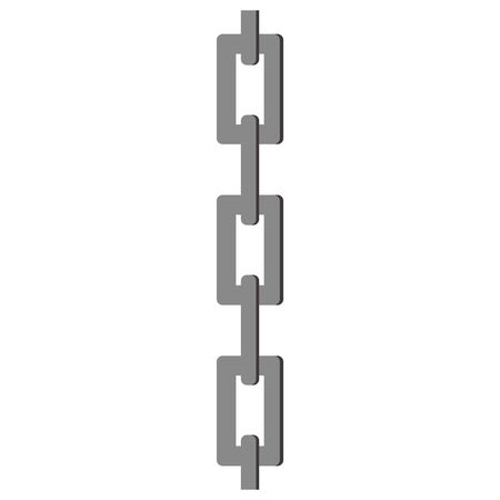 Isolated vector illustration of chain.
