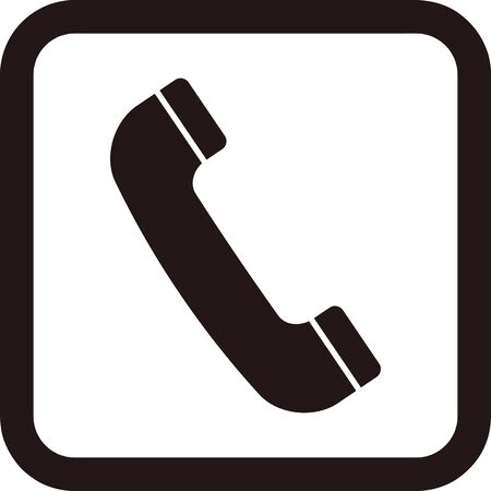 Simple icon of telephone handset