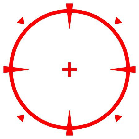 Sniper target icon isolated vector image.