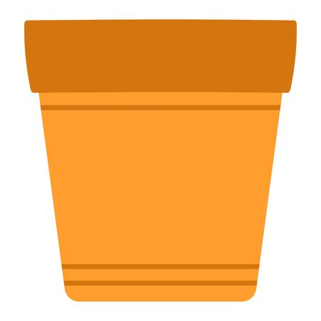 Flower pot isolated vector image.