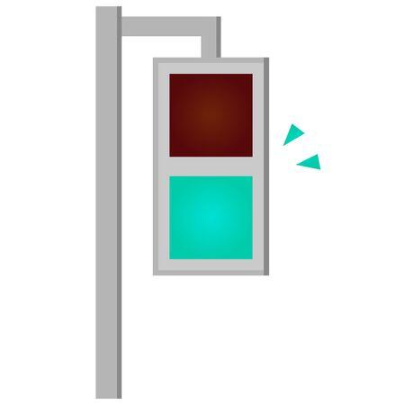 Traffic Light Isolated Vector Illustration. Illustration