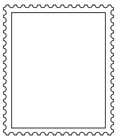 Japanese postage stamp isolated vector image set.