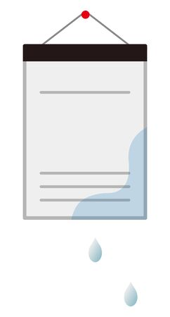 Documents wet with water isolated vector illustration