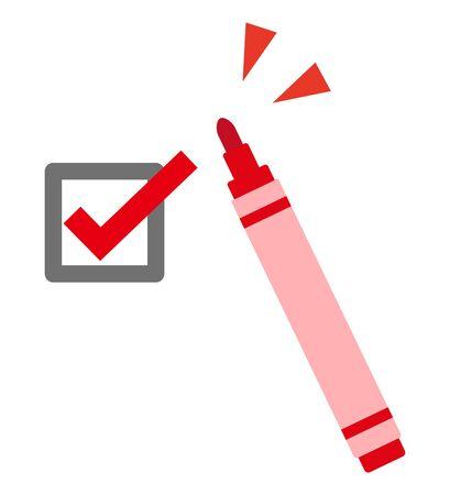 checkmark written with a pen