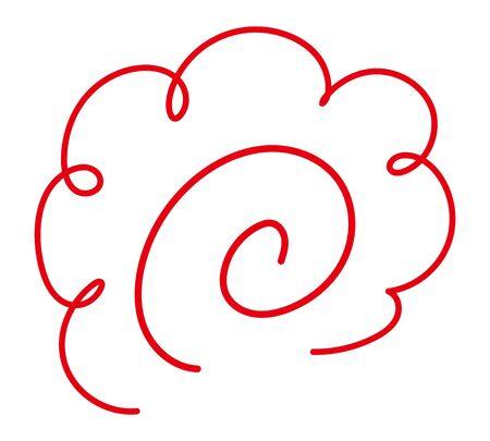 Japanese flower mark for good work isolated vector illustration