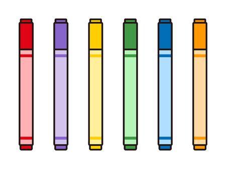 marker pens isolated vector illustration  イラスト・ベクター素材