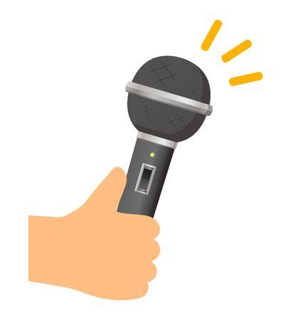 illustration of simple audio microphone