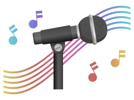 audio microphone isolated vector illustration