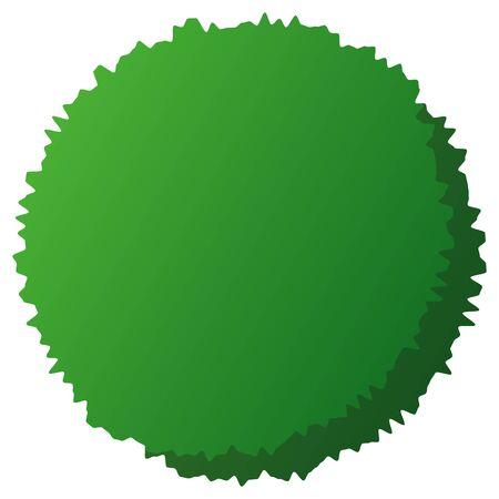 A round green alga isolated vector illustration.
