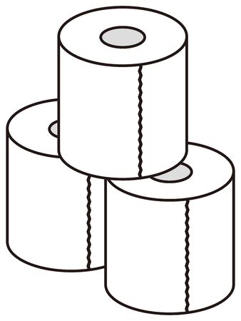 toilet papers isolated vector illustration