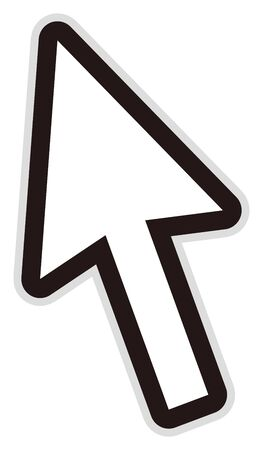 isolated vector illustration of white cursor