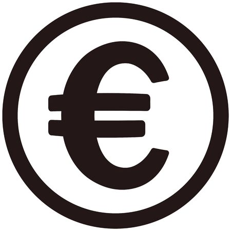 Euro coin isolated vector icon
