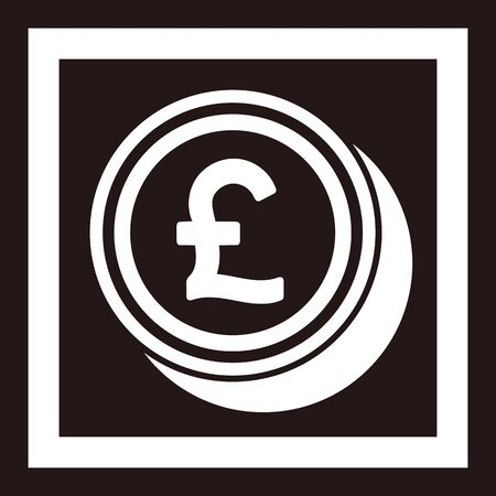 Pound coin icon isolated vector image