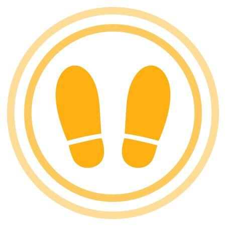 Shoe prints isolated vector illustration  イラスト・ベクター素材