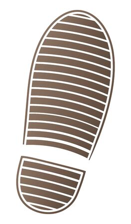 Shoe print isolated vector illustration