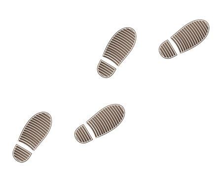 Shoe prints isolated vector illustration Illustration