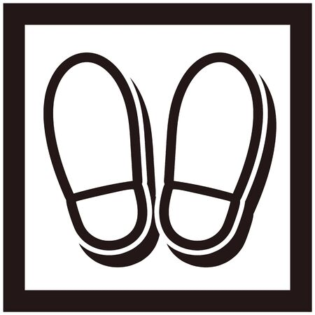 Footprints icon isolated vector illustration