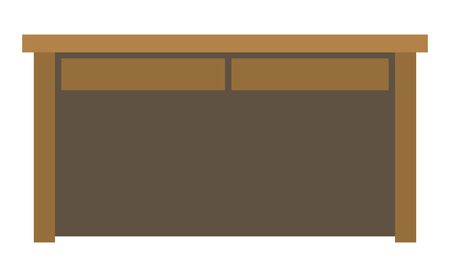 Wood desk isolated vector illustration