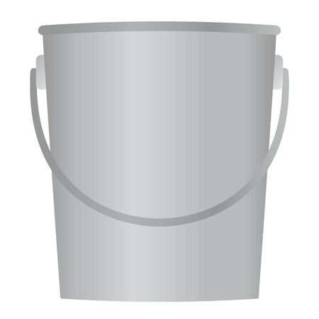 Isolated vector illustration of bucket