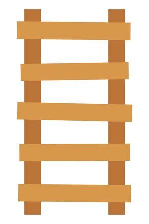 Wooden ladder isolated vector illustration  イラスト・ベクター素材