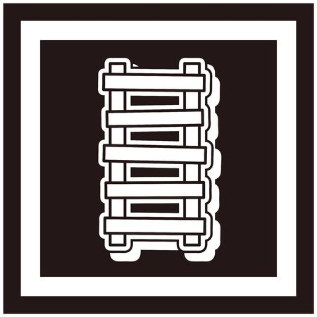 Ladder icon isolated vector illustration  イラスト・ベクター素材