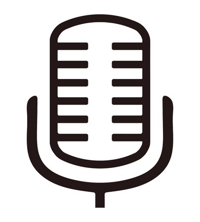 Audio microphone icon isolated vector illustration