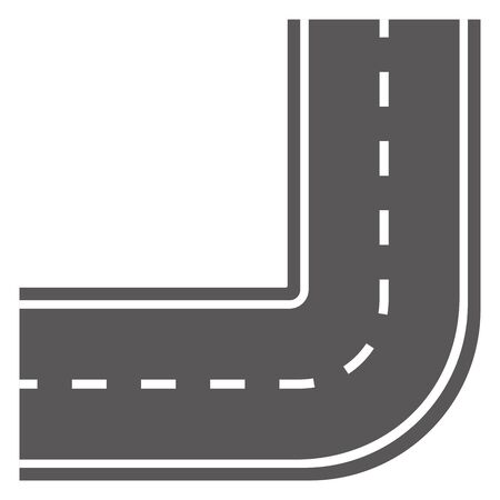 Curving road isolated vector illustration