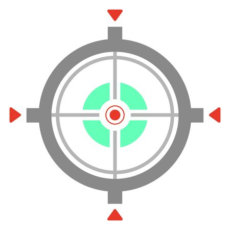 Isolated vector icon of  aiming